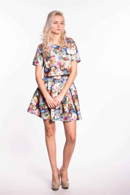 obrázok 2 City Goddess dvojdielne kvetované šaty
