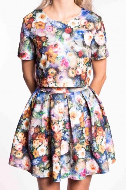 obrázok 3 City Goddess dvojdielne kvetované šaty