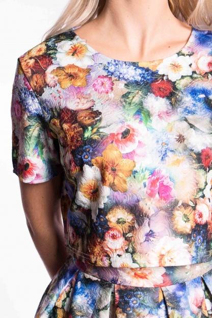 obrázok 4 City Goddess dvojdielne kvetované šaty