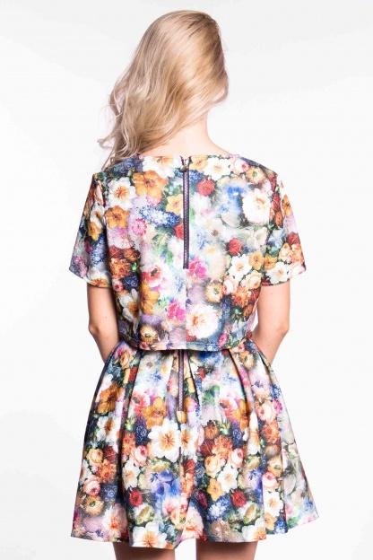obrázok 5 City Goddess dvojdielne kvetované šaty
