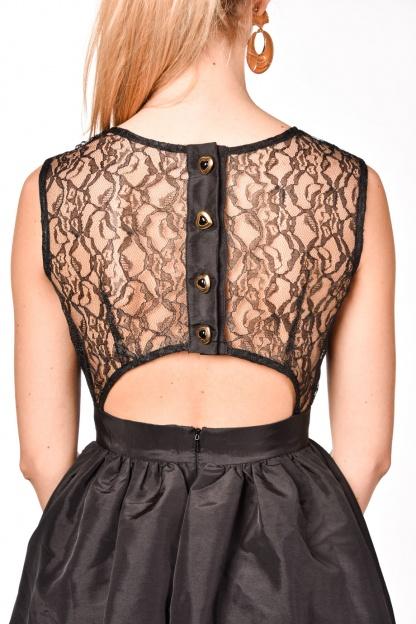 obrázok 2 Čierne koktejlové mini šaty