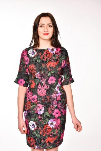 obrázok 1 ASOS čierne puzdrové kvetované šaty