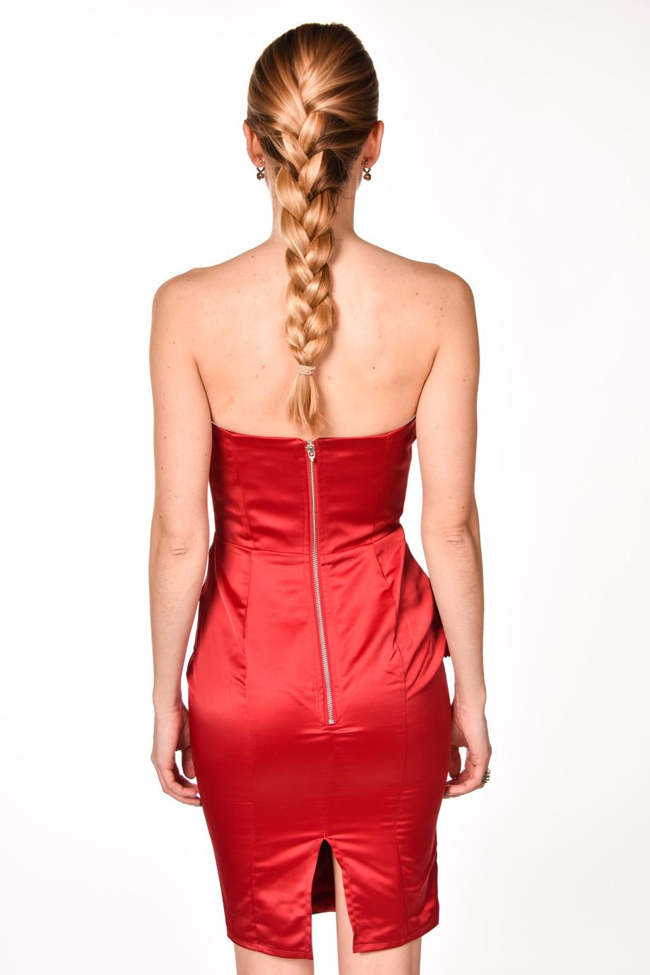 57e57235ff9f obrázok 2 LIPSY červené kvetované šaty bez ramienok