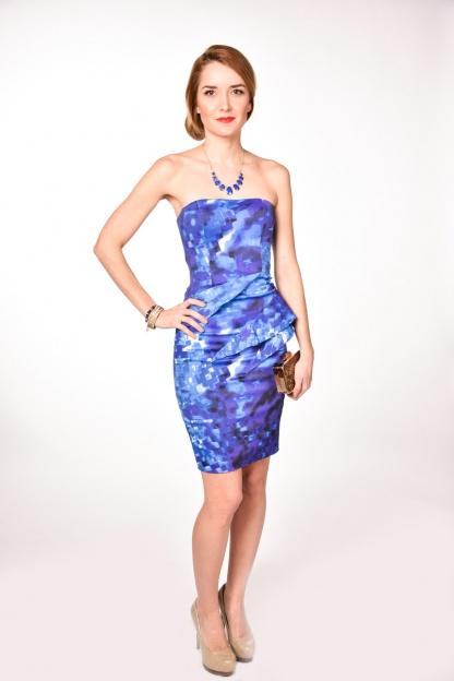 obrázok 4 Karen Millen modré spoločenské šaty