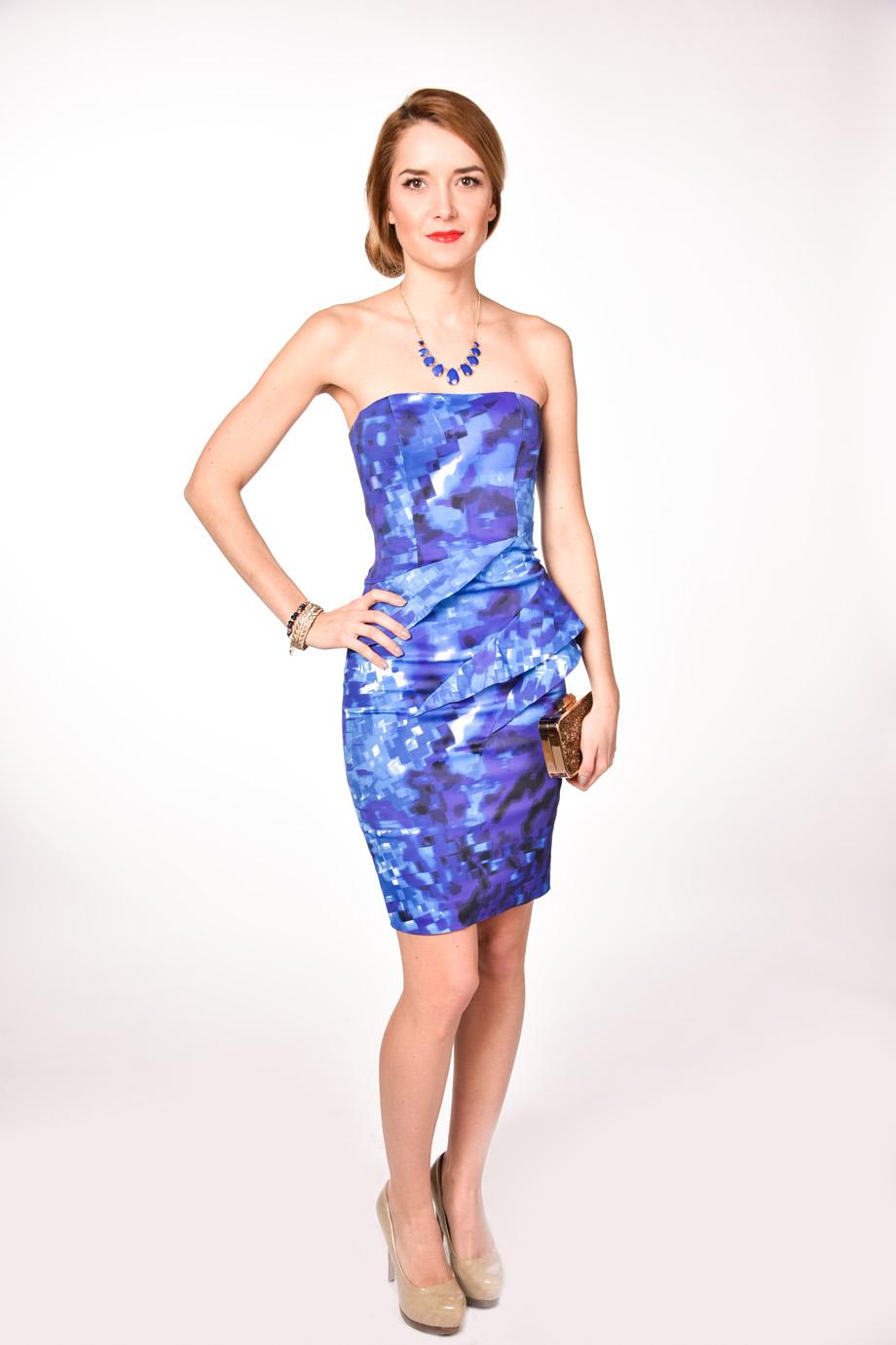 obrázok 4 Karen Millen modré spoločenské šaty 510366625e7