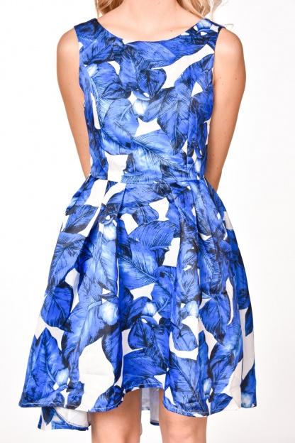 obrázok 3 modrobiele spoločenské šaty