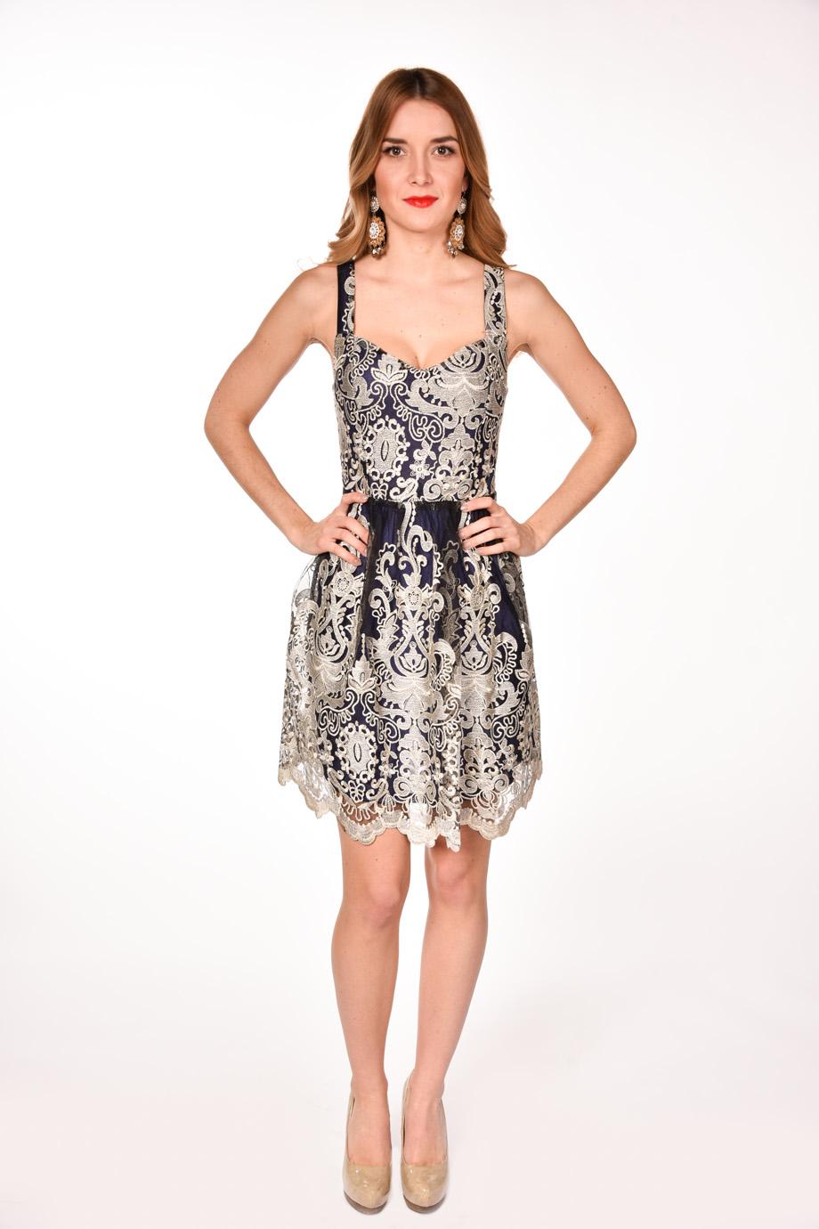 Zlaté čipkované spoločenské šaty - Shaty 836b2d9a93b