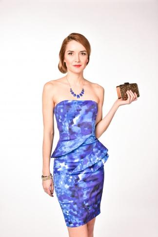 obrázok 1 Karen Millen modré spoločenské šaty