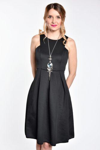 obrázok 1 Čierne koktejlové midi šaty