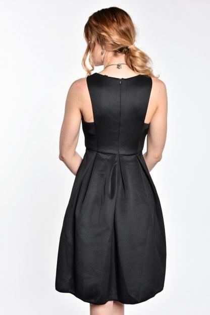obrázok 2 Čierne koktejlové midi šaty