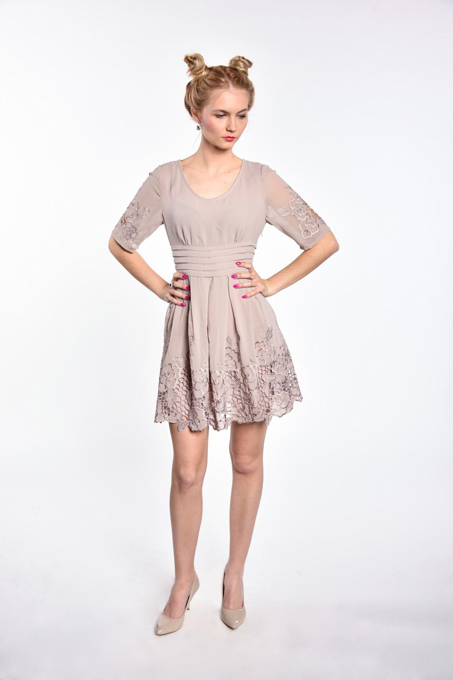 b6406c7ff86d obrázok 4 Chicwish sivé šaty s rukávom