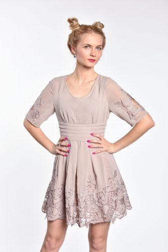 obrázok 1 Chicwish sivé šaty s rukávom
