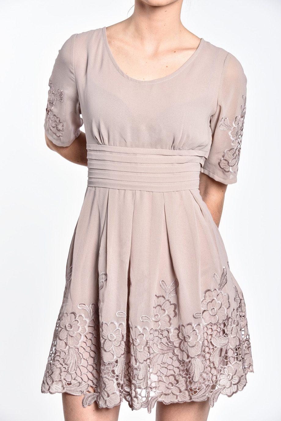 obrázok 3 Chicwish sivé šaty s rukávom