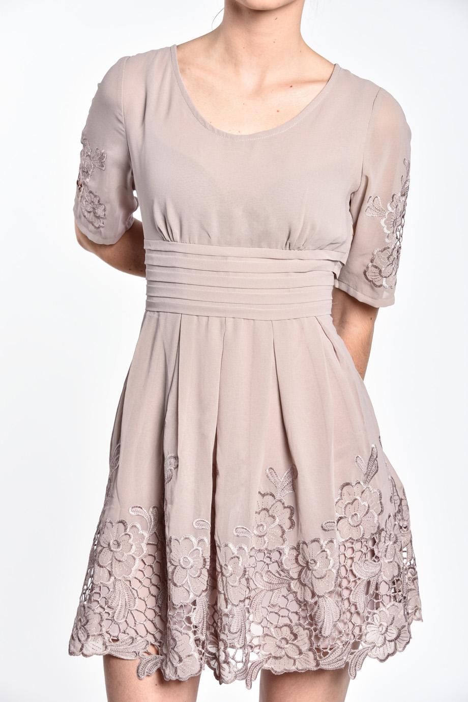b9ad2c9b605d obrázok 3 Chicwish sivé šaty s rukávom