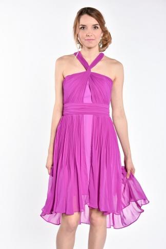 obrázok 1 Warehouse fialové plisované šaty
