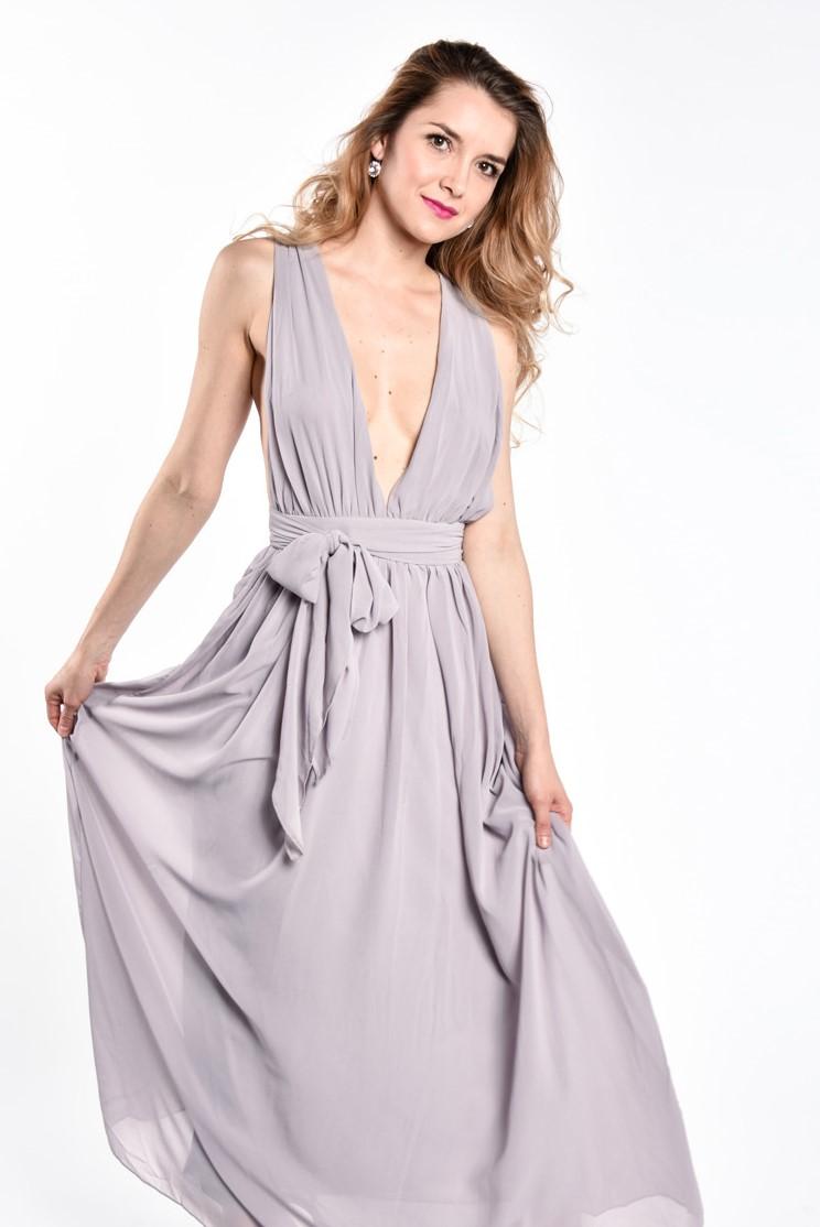 obrázok 1 Plážové maxi šaty s opaskom