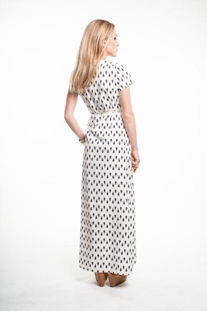 obrázok 3 Krémové zavinovacie maxi šaty