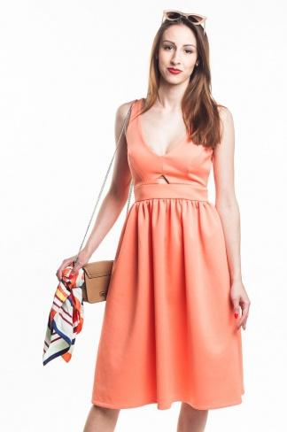 obrázok 1 ASOS letné oranžové midi šaty