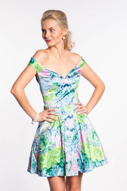 obrázok 1 ASOS dúhované šaty na ramená