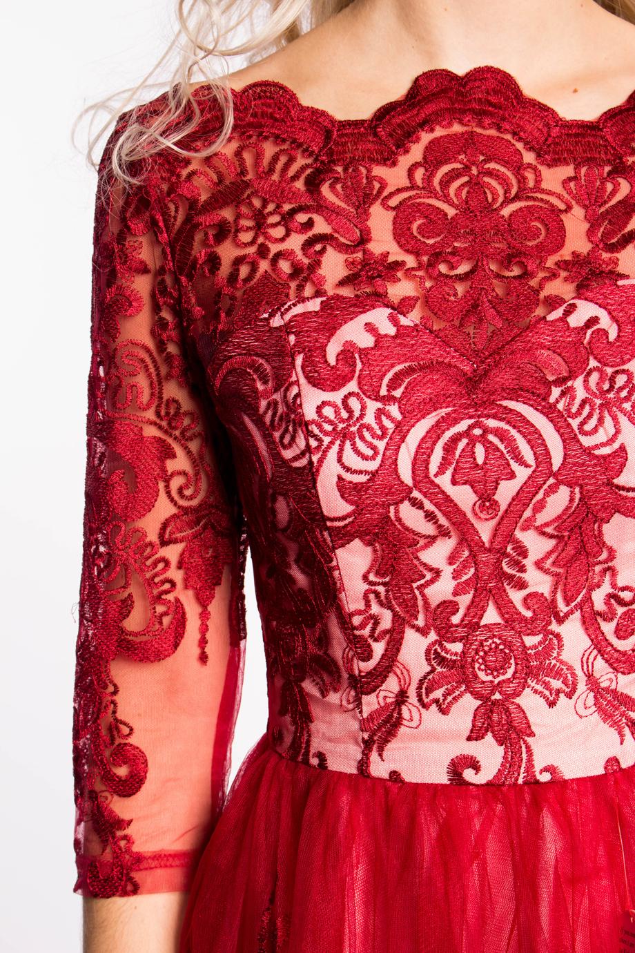 obrázok 3 Chi-Chi London červené čipkované šaty