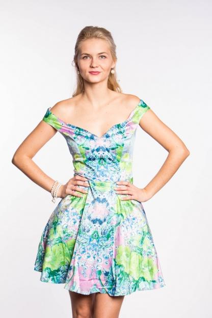 obrázok 2 ASOS dúhované šaty na ramená