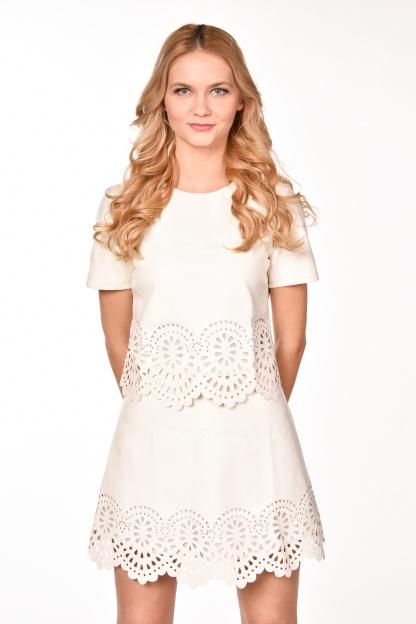 obrázok 1 Dvojdielne šaty s ozdobným okrajom