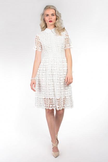 obrázok 3 Chicwish biele čipkované šaty