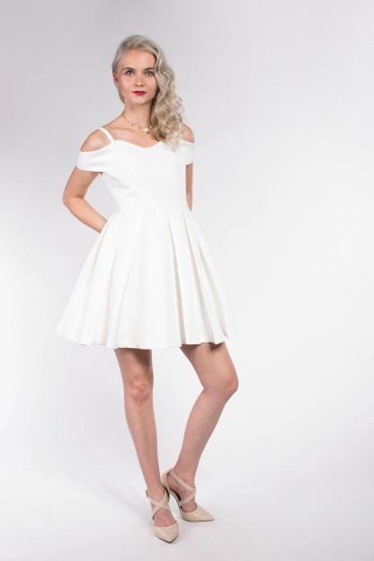 obrázok 4 Chicwish biele mini šaty