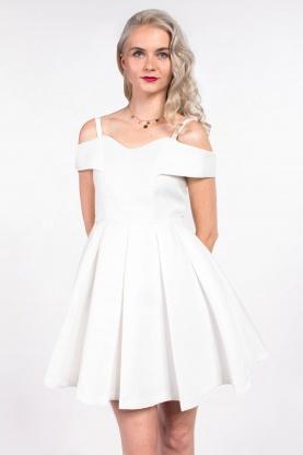obrázok 1 Chicwish biele mini šaty