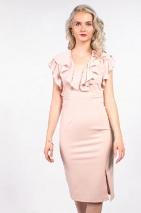 obrázok 1 ASOS ružové midi šaty s volánom