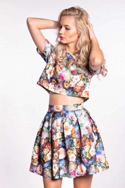 obrázok 1 City Goddess dvojdielne kvetované šaty