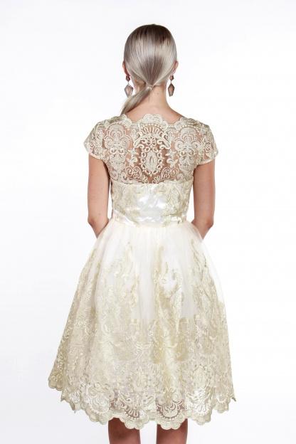 obrázok 3 Chi-Chi London béžovo-zlaté čipkované šaty