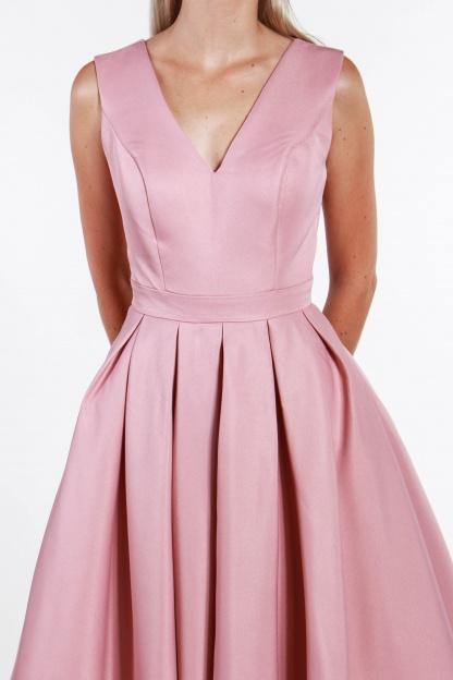 obrázok 3 Chi-Chi London ružové midi šaty