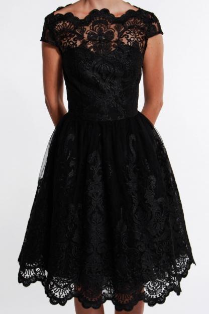 obrázok 3 Chi-Chi London čierne čipkované šaty