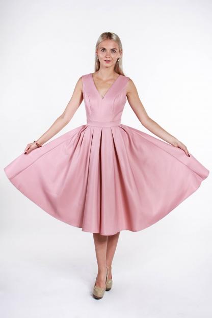 obrázok 4 Chi-Chi London ružové midi šaty