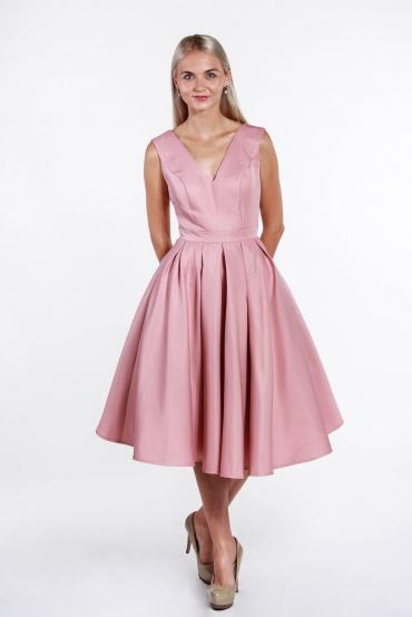 obrázok 5 Chi-Chi London ružové midi šaty