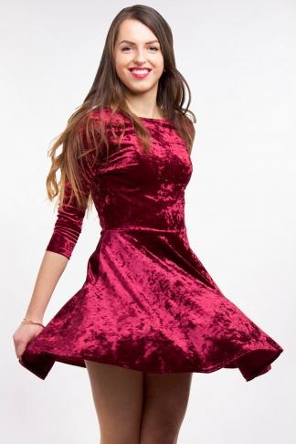 Obrázok 1 Club L bordové semišové šaty