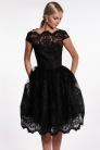 obrázok 1 Chi-Chi London čierne čipkované šaty