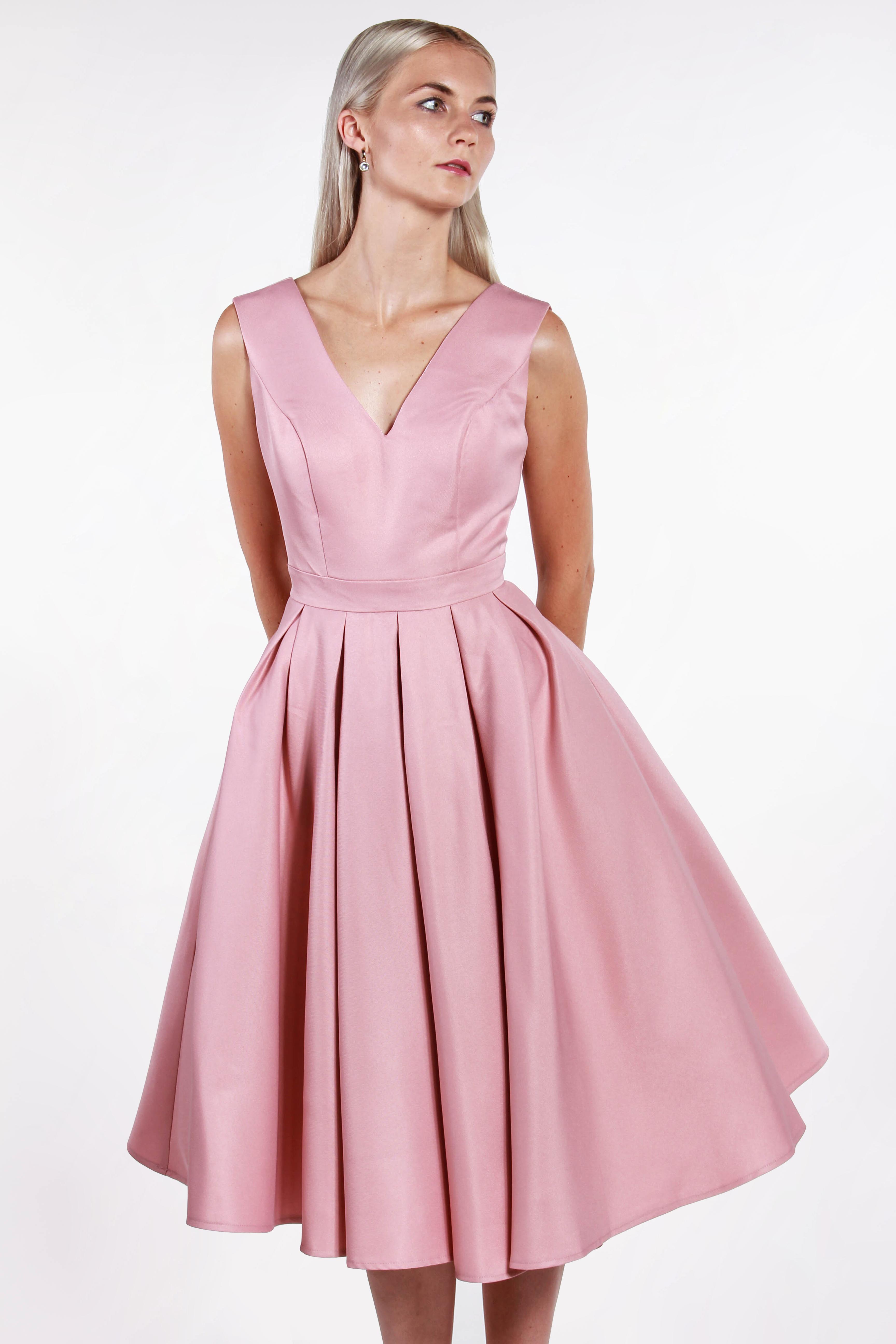 Chi-Chi London ružové midi šaty (požičanie) - Shaty c4f14f9166a