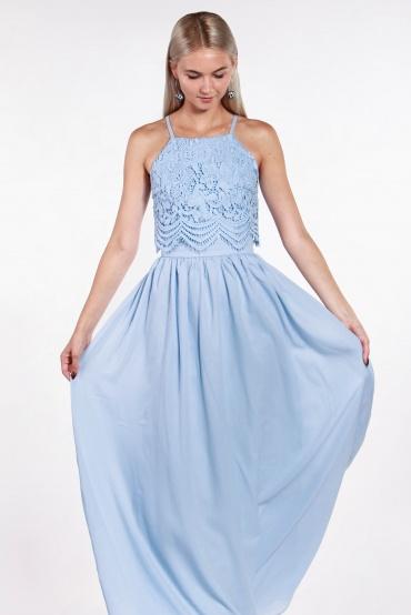 obrázok 1 Chi-Chi London bledomodré maxi šaty