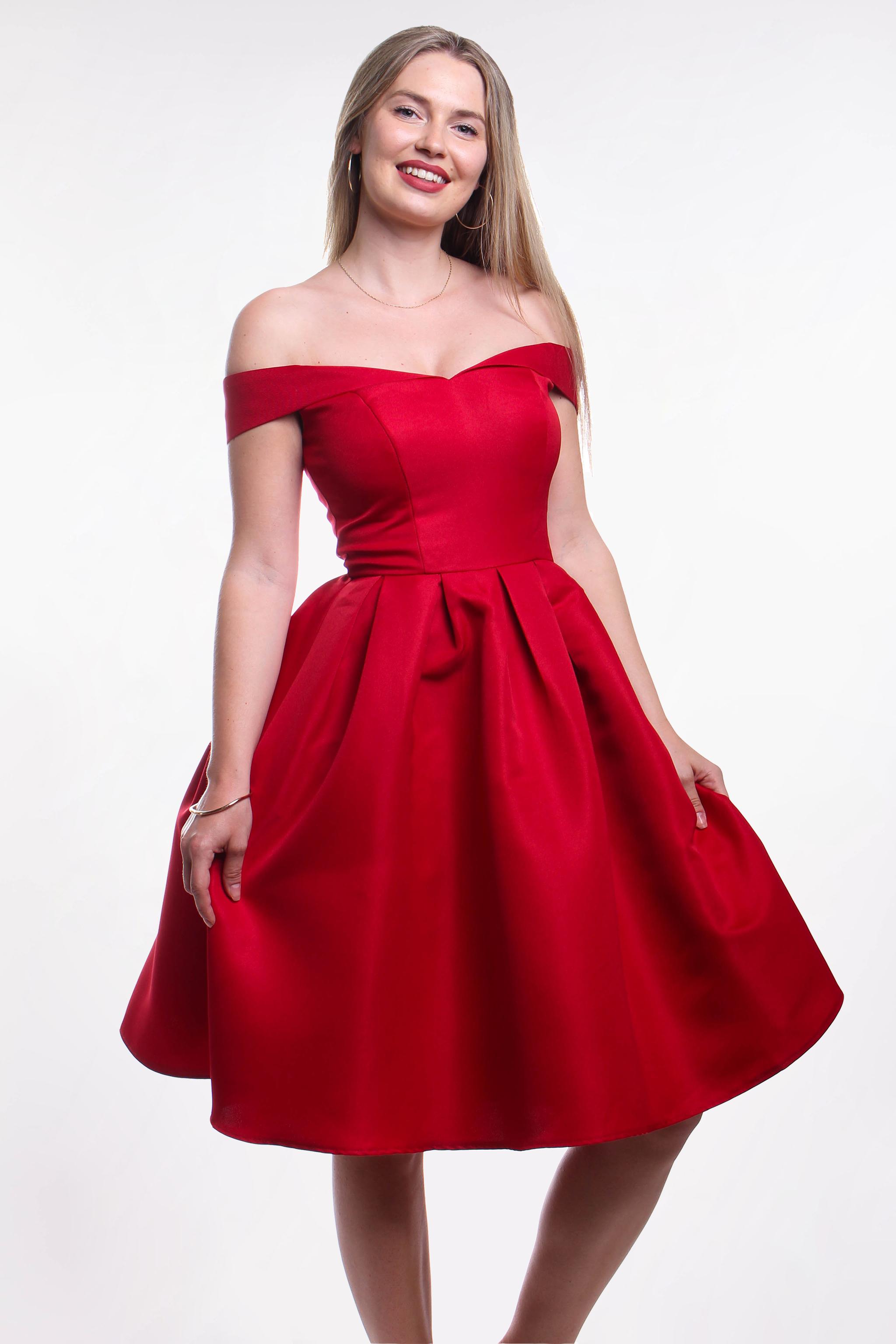 Obrázok 1 Chi-Chi London červené šaty fc425218788