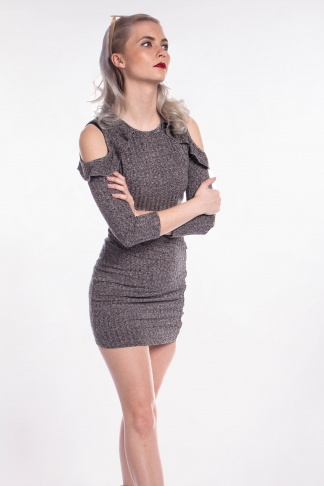 obrázok 1 Missguided šedé šaty