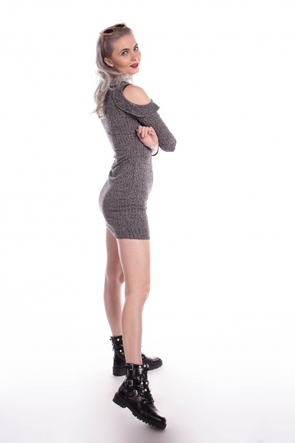 obrázok 2 Missguided šedé šaty