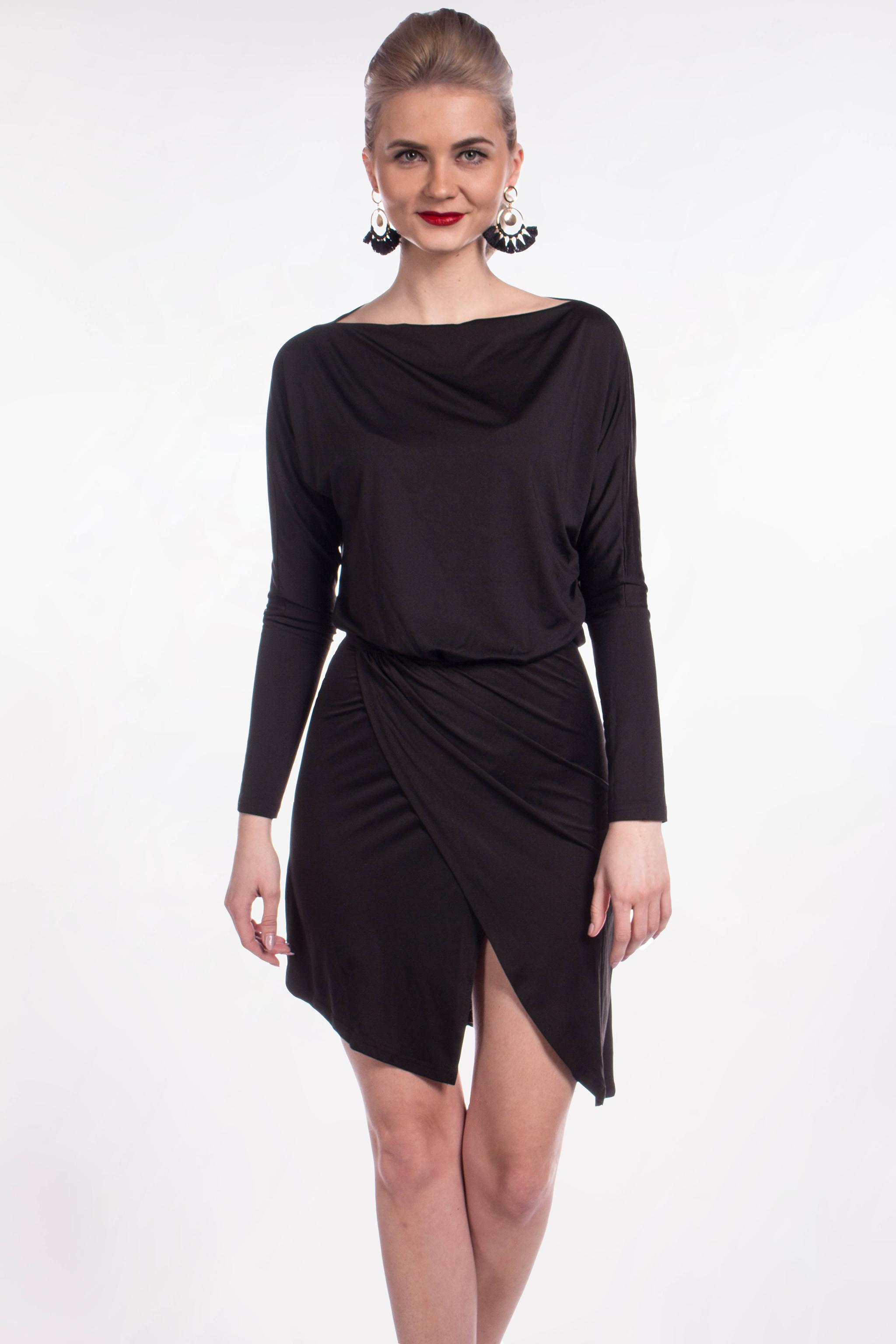 c421a269585a obrázok 1 Missguided čierne asymetrické šaty - Shaty