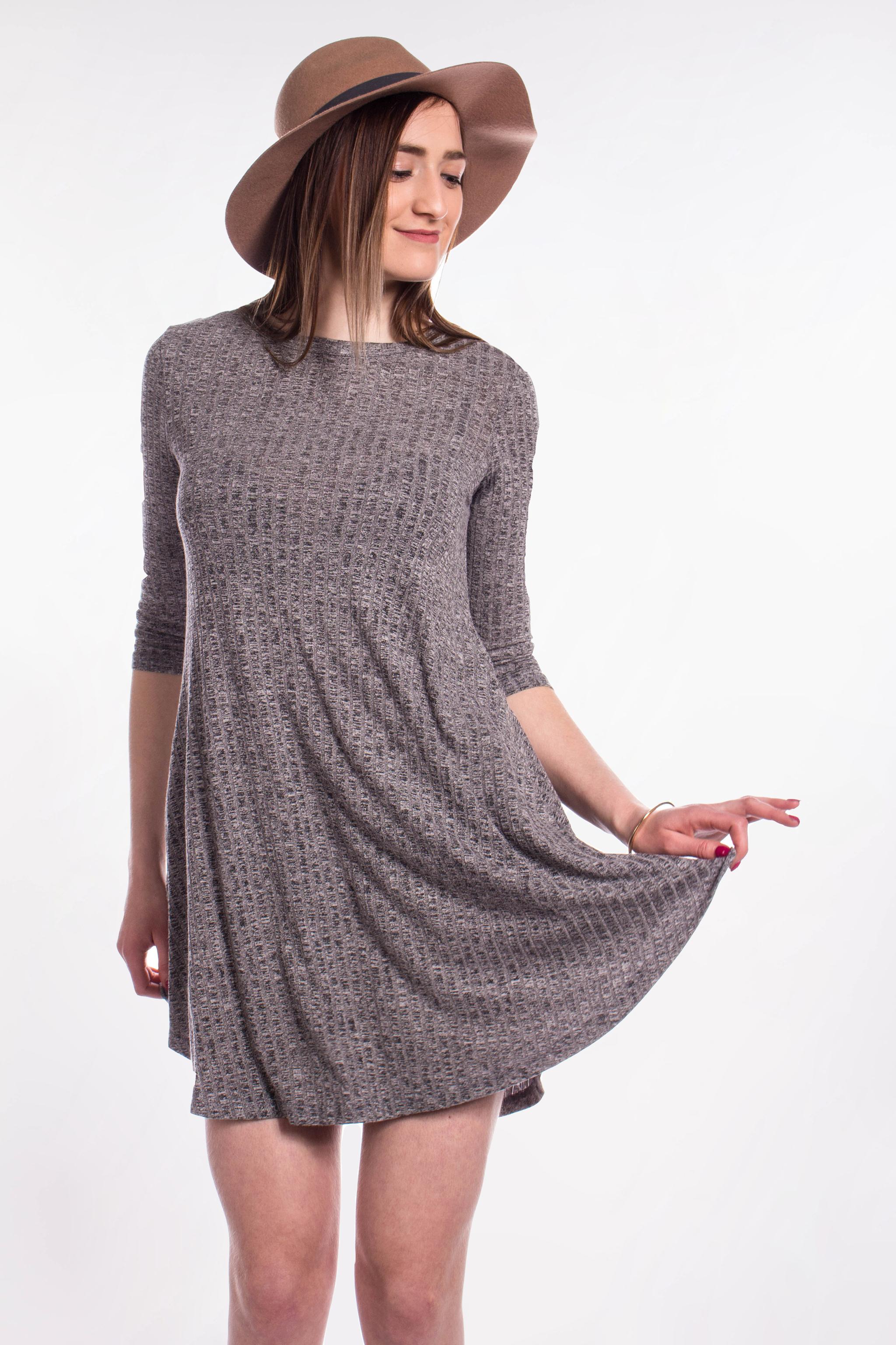 cc32d971fa1b obrázok 1 New Look šedé šaty s vreckami