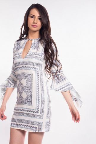 obrázok 1 Missguided šaty s volánovým rukávom