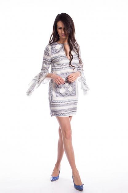 obrázok 5 Missguided šaty s volánovým rukávom