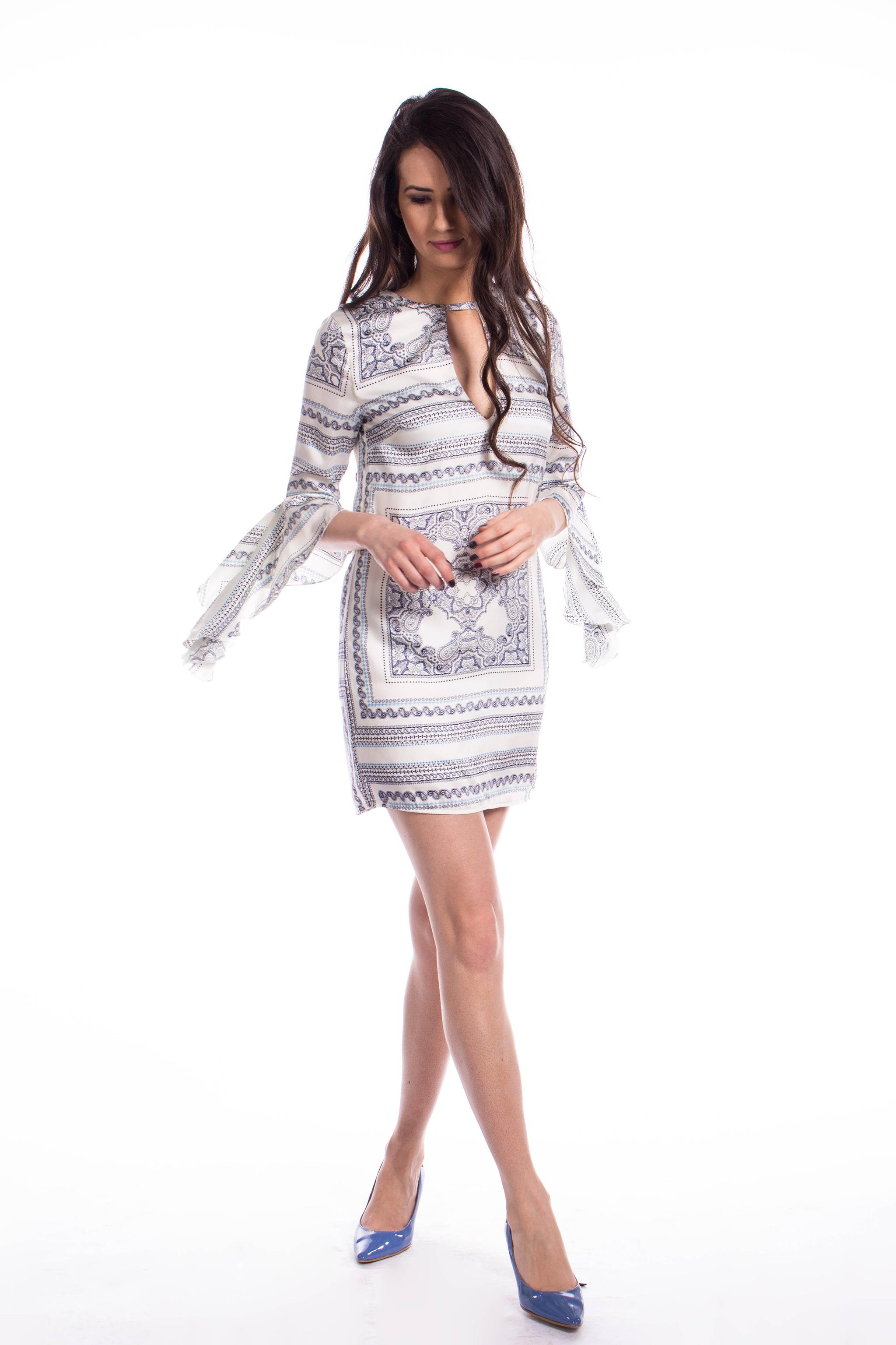 obrázok 5 Missguided šaty s volánovým rukávom 154c85aaf2c