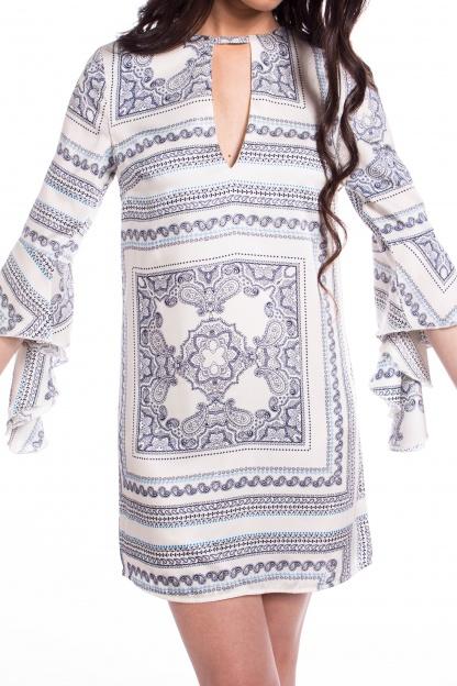 obrázok 3 Missguided šaty s volánovým rukávom