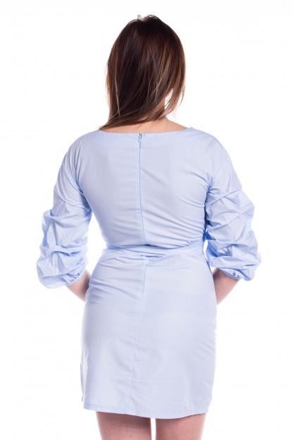 obrázok 3 Parallel Lines modré šaty s nariaseným rukávom
